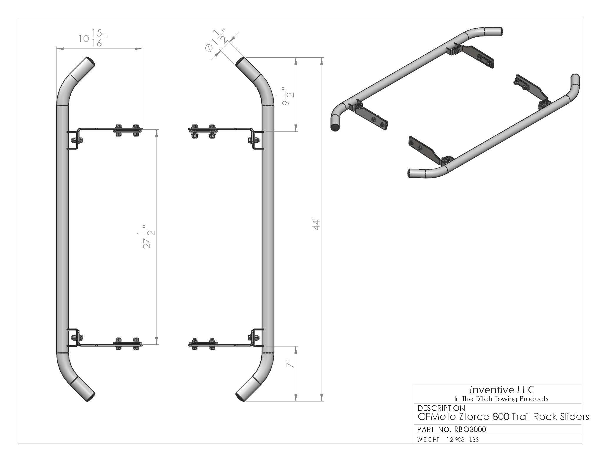 Cfmoto Zforce Rock Slider Kit Razorback Offroad Cf Moto Utv 500 Wiring Diagram Dimensions Operations Manual