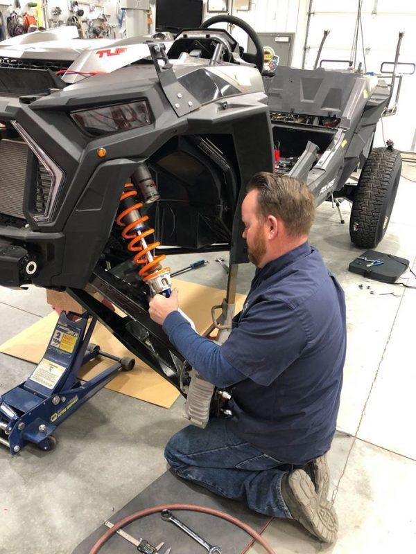 Suspension Install Shop for Polaris RZR Turbo S Custom UTV SEMA Build