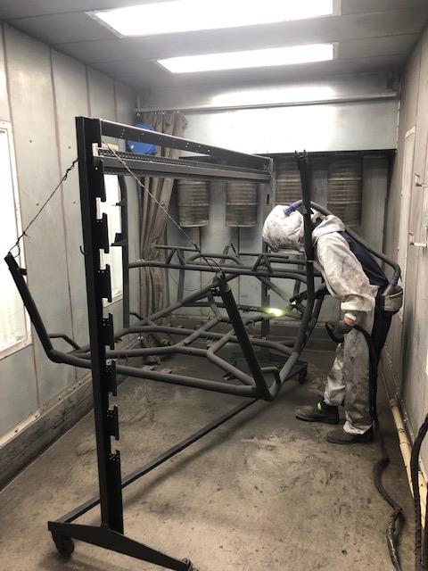 Cage Powder Coating Booth Gun for Polaris RZR Turbo S Custom UTV SEMA Build