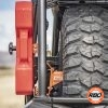 A close up of Polaris General spare tire mount