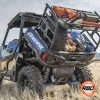 Polaris General spare tire mount in a field