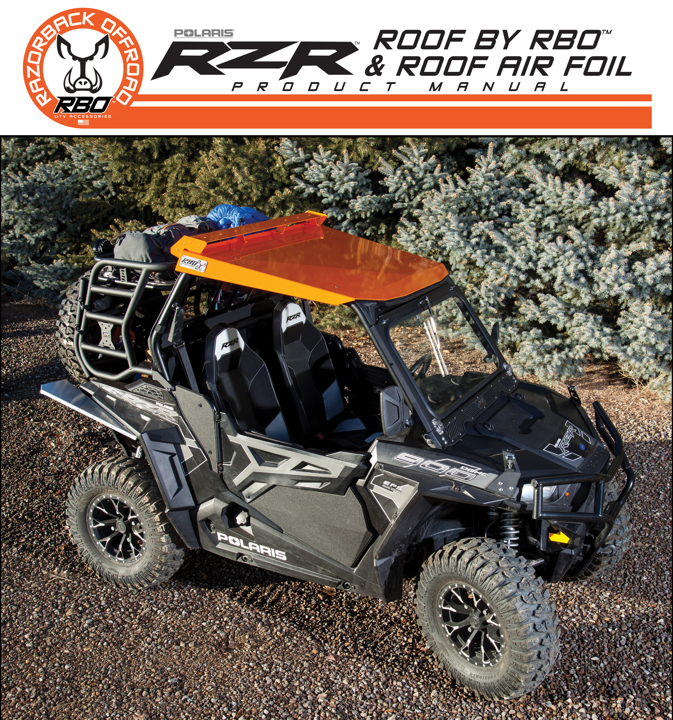 Razorback Offroad RZR 900 Roof Air Foil Product Manual
