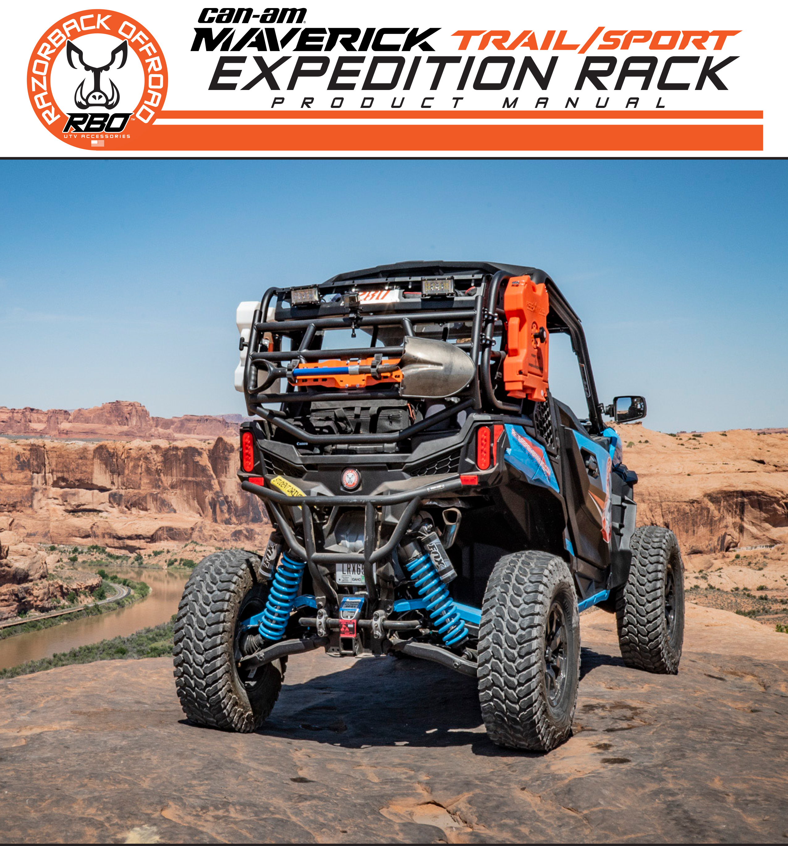 RBO Can-Am Maverick Trail and Sport Expedition Rack