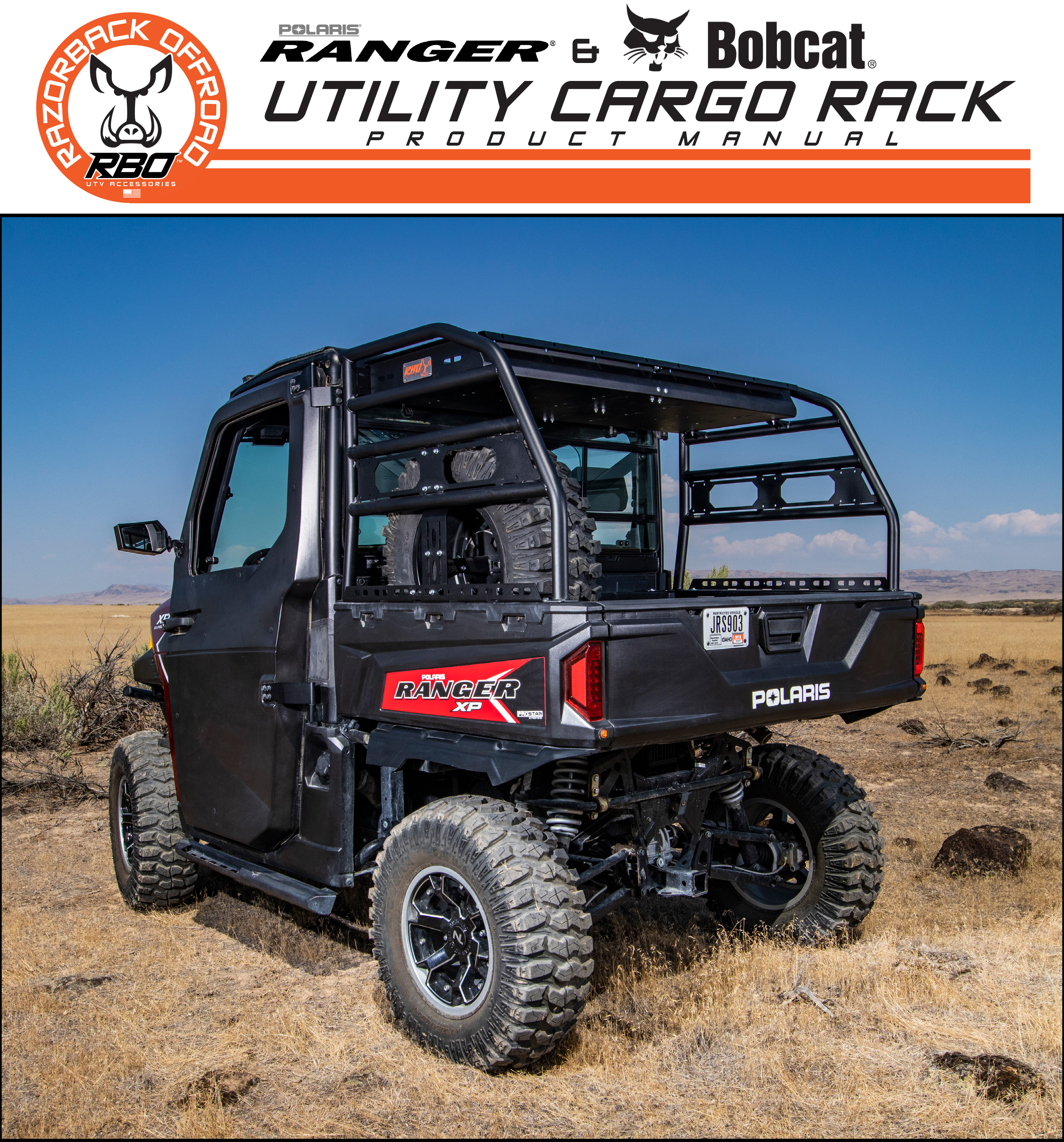 RBO Polaris Ranger and Bobcat Utility Cargo Rack