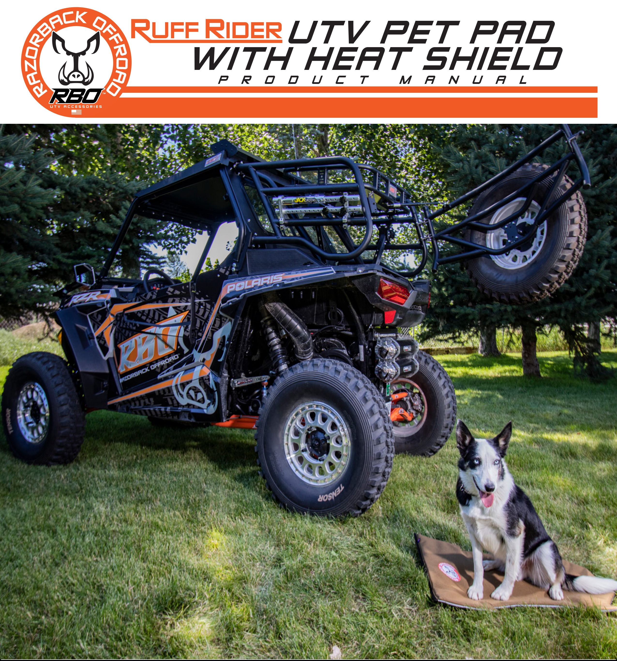 RBO Ruff Rider UTV Pet Pad With Heat Shield Dog