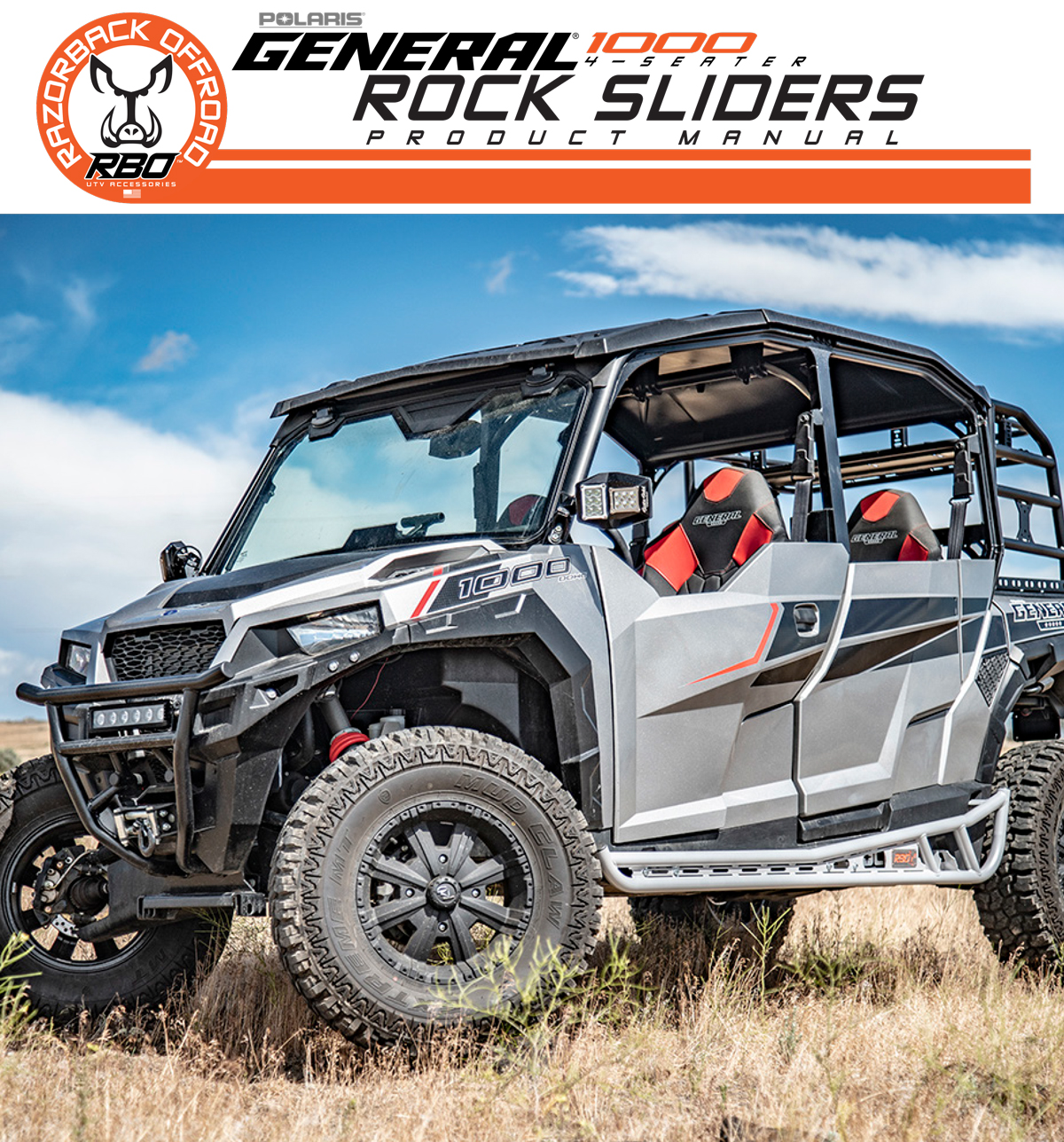 Razorback Offroad Polaris General 4 Seater Rock Sliders