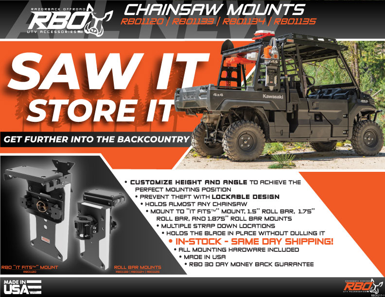 RBO Chainsaw Mounts Features and Benefits Flyer
