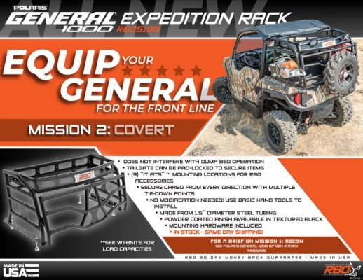 RBO Polaris General 1000 Expedition Rack Features and Benefits Flyer