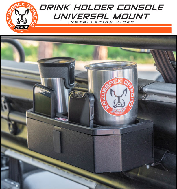 RBO Drink Holder Console Universal Mount Installation Video Product Manual