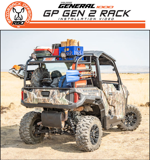 RBO Polaris General 1000 GP Gen 2 Rack Installation Video Product Manual