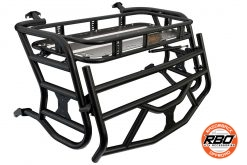 A close up of Polaris RZR900 Expedition Rack With Tailgate