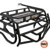 Polaris RZR cargo rack with tailgate