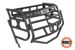 Closeup of Can Am Maverick Trail Sport Expedition Rack With Tailgate