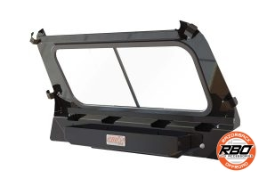 Back view of Polaris RZR1000 Rear Sliding Window