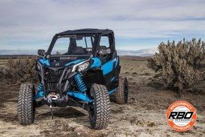 ATV near bushes