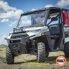 ATV on grassy hill