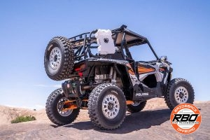 UTV parked in the desert