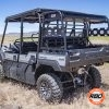 Empty UTV parked in a field with