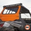Rear window on ATV