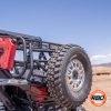 UTV with tire parked in the desert