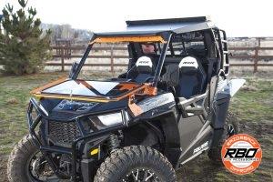 ATV parked on grass
