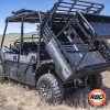 UTV with the bed tilted down