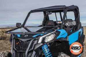 ATV with front window folded down