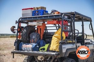 UTV bed filled with luggage