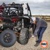 Man removing ATV tire