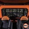 Orange rear windshield