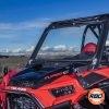 ATV window closeup