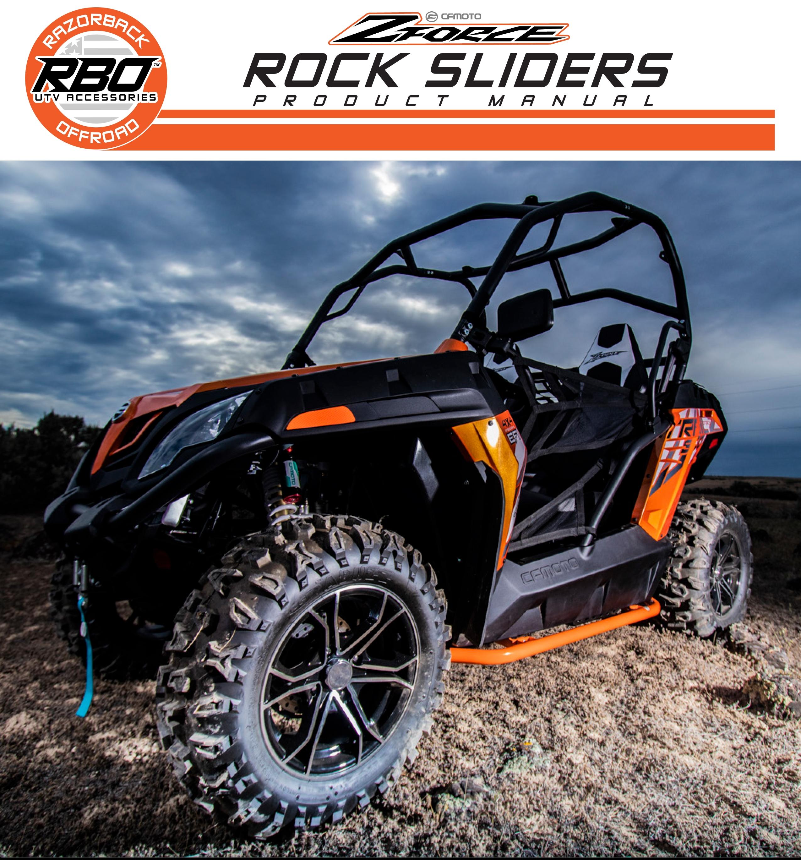 RBO CF Moto Zforce Rock Sliders Product Manual