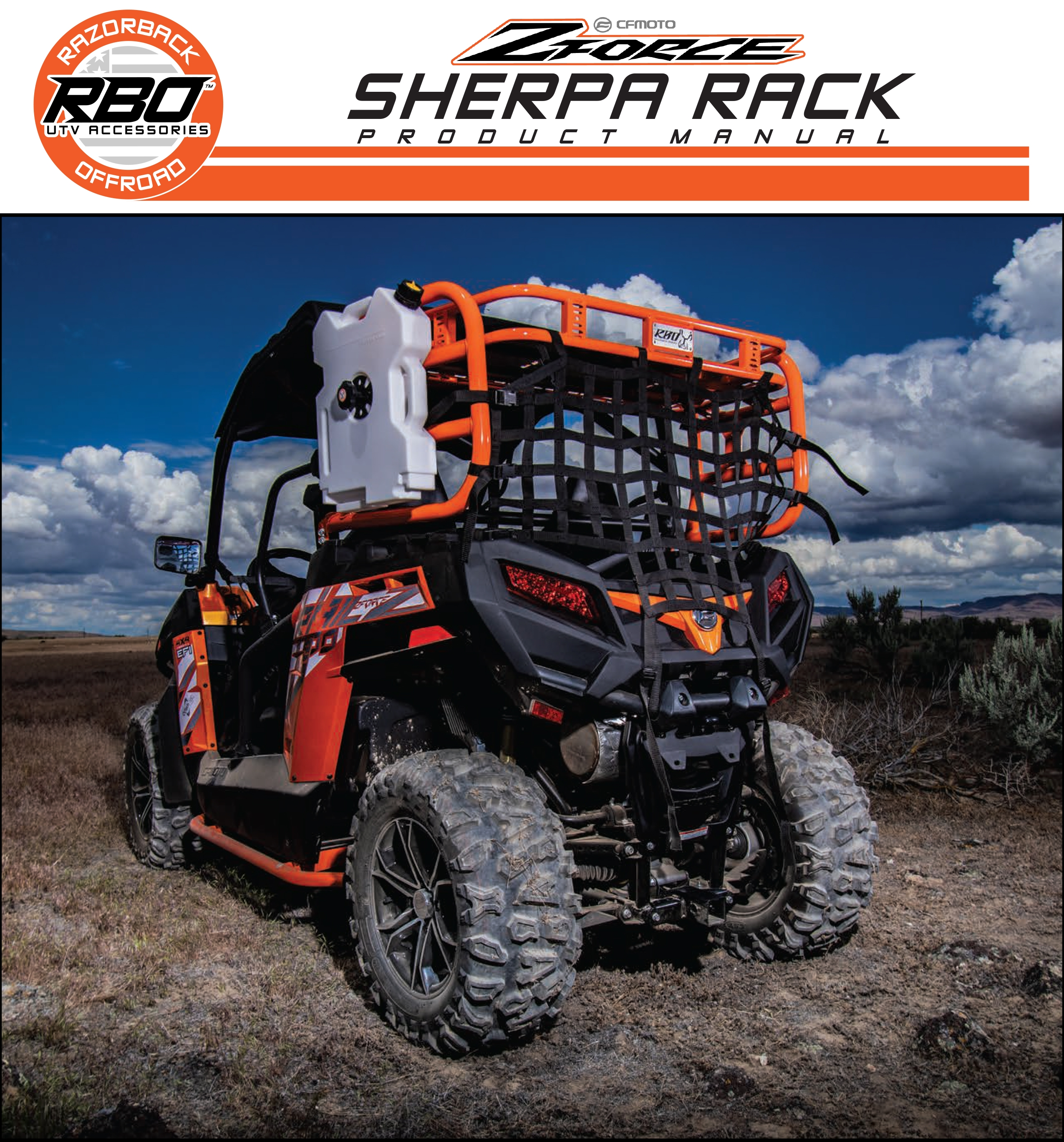 RBO CF Moto ZForce Sherpa Rack Product Manual