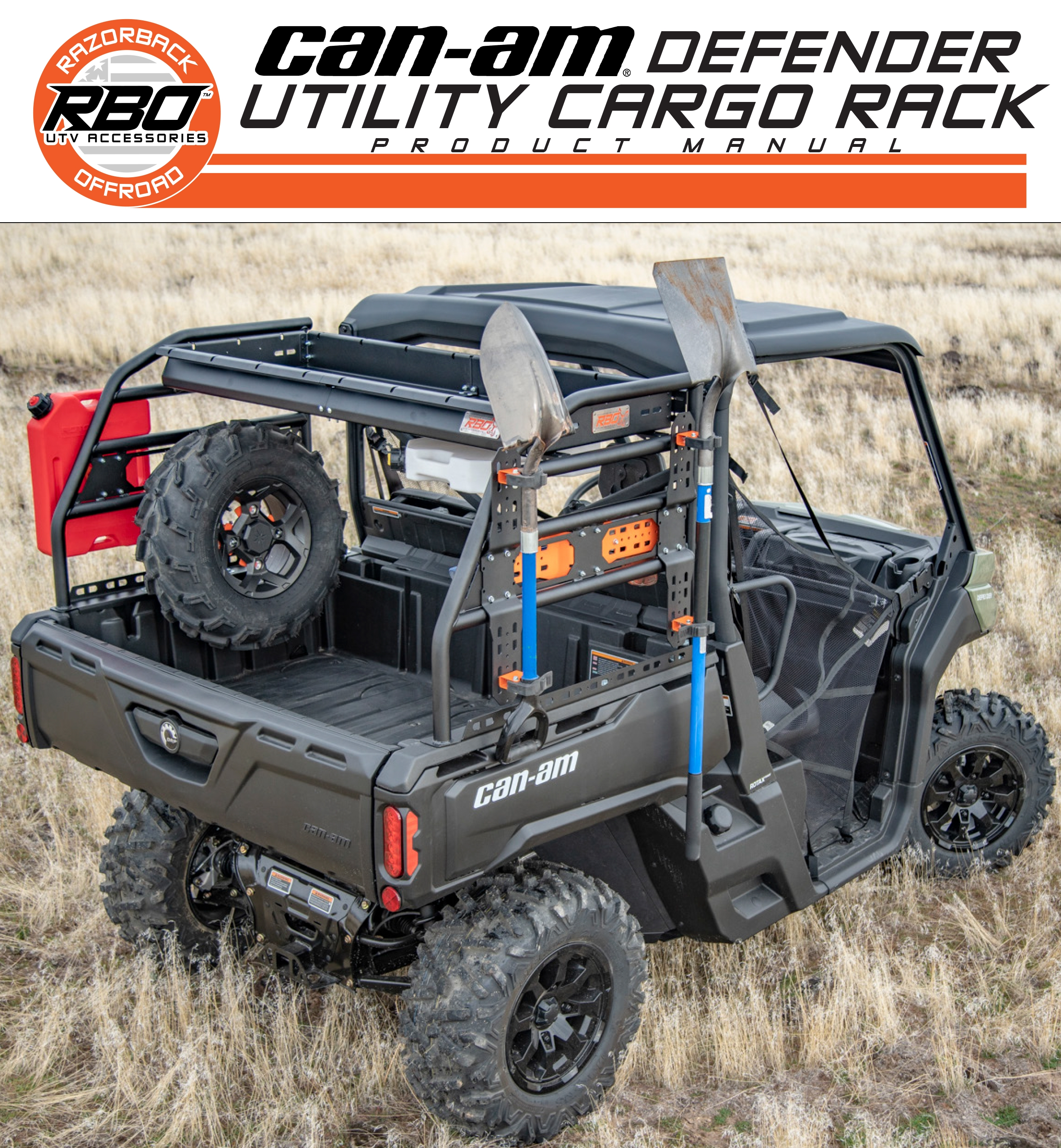 RBO Can-Am Defender Utility Cargo Rack Product Manual
