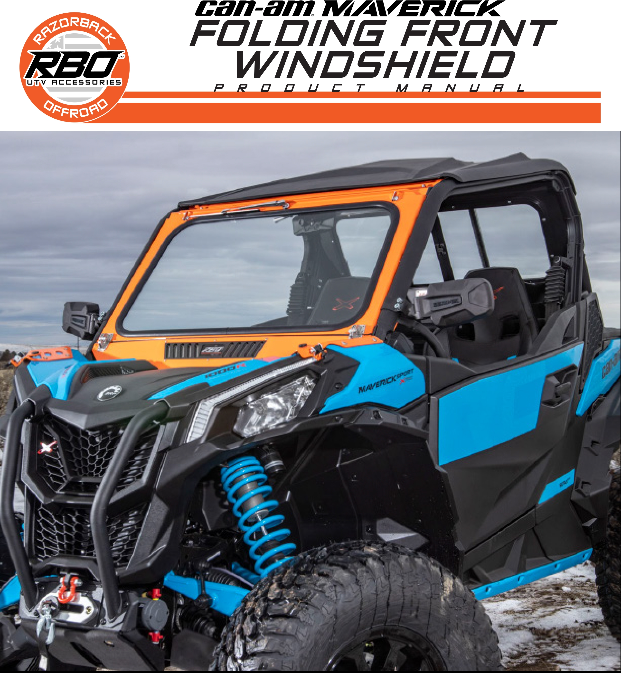 RBO Can-Am Maverick Front Folding Windshield Product Manual