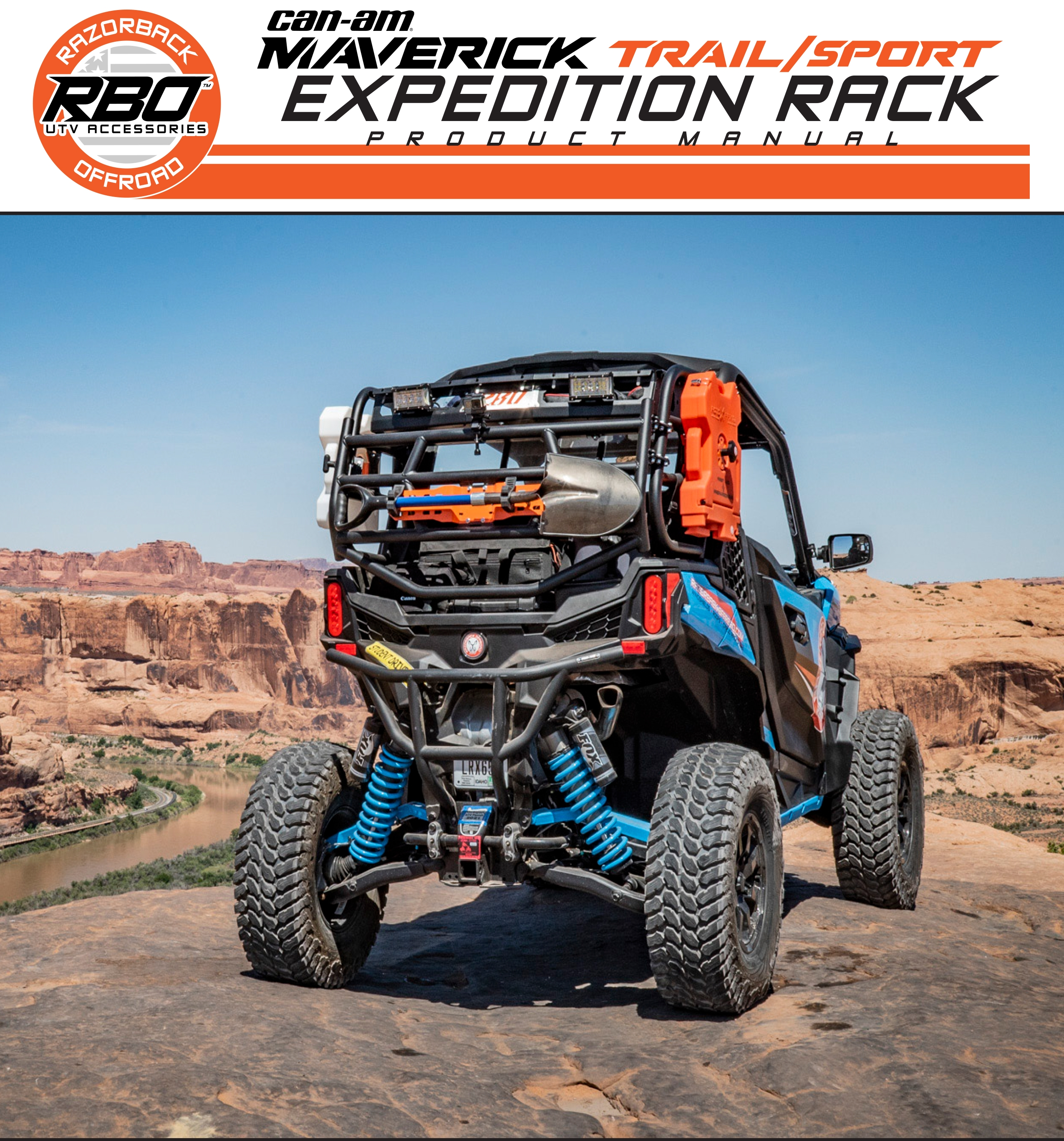 RBO Can-Am Maverick Trail and Sport Expedition Rack Product Manual