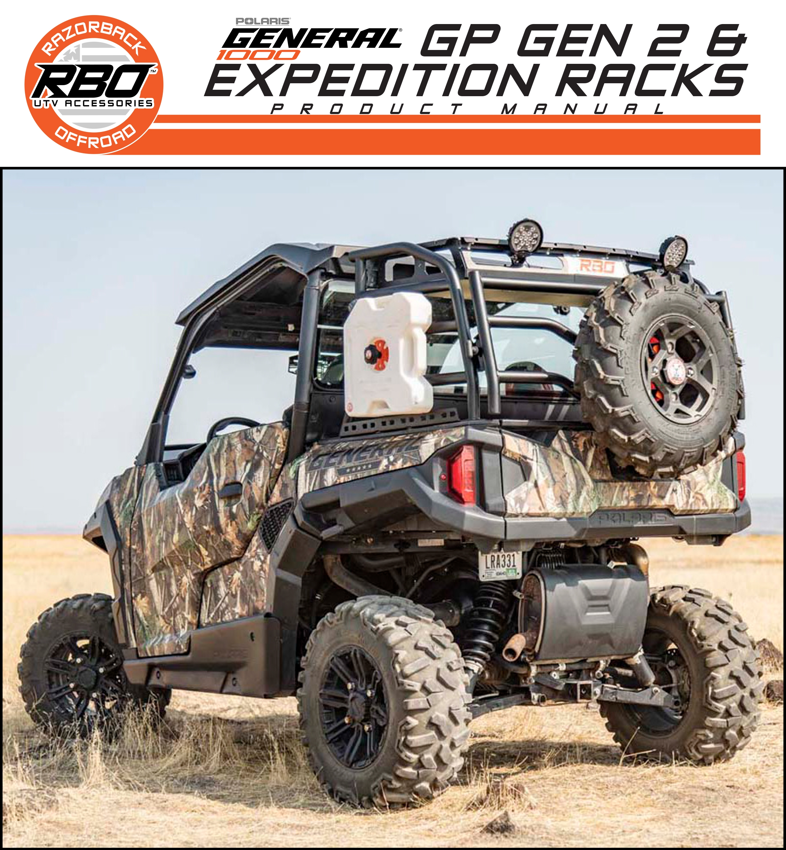 RBO Polaris General 1000 GP Gen 2 and Expedition Racks Product Manual