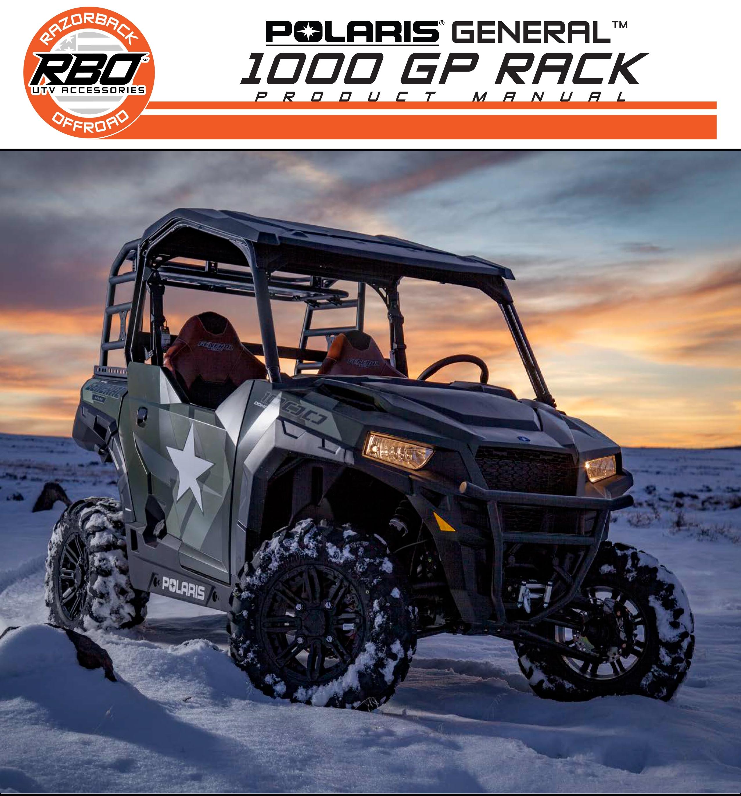 RBO Polaris General 1000 GP Rack Product Manual