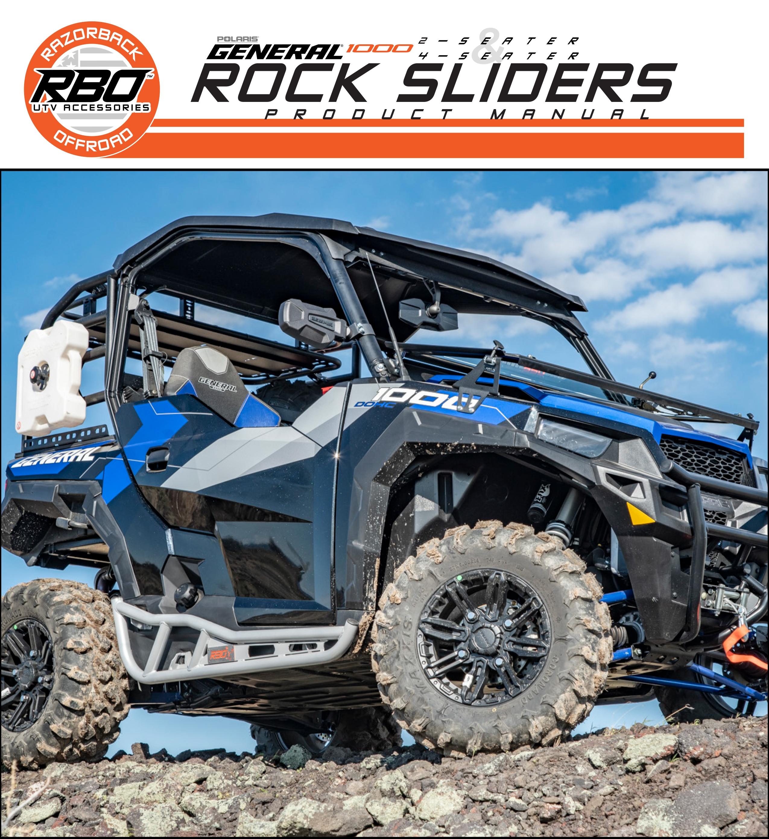 RBO Polaris General 1000 Rock Sliders Product Manual