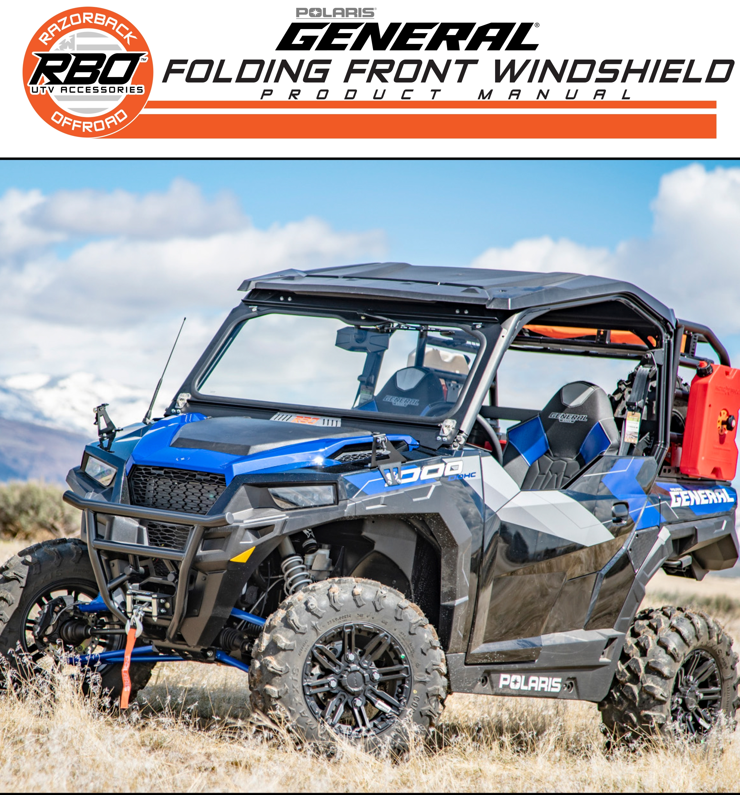 Polaris General Folding Front Windshield Product Manual