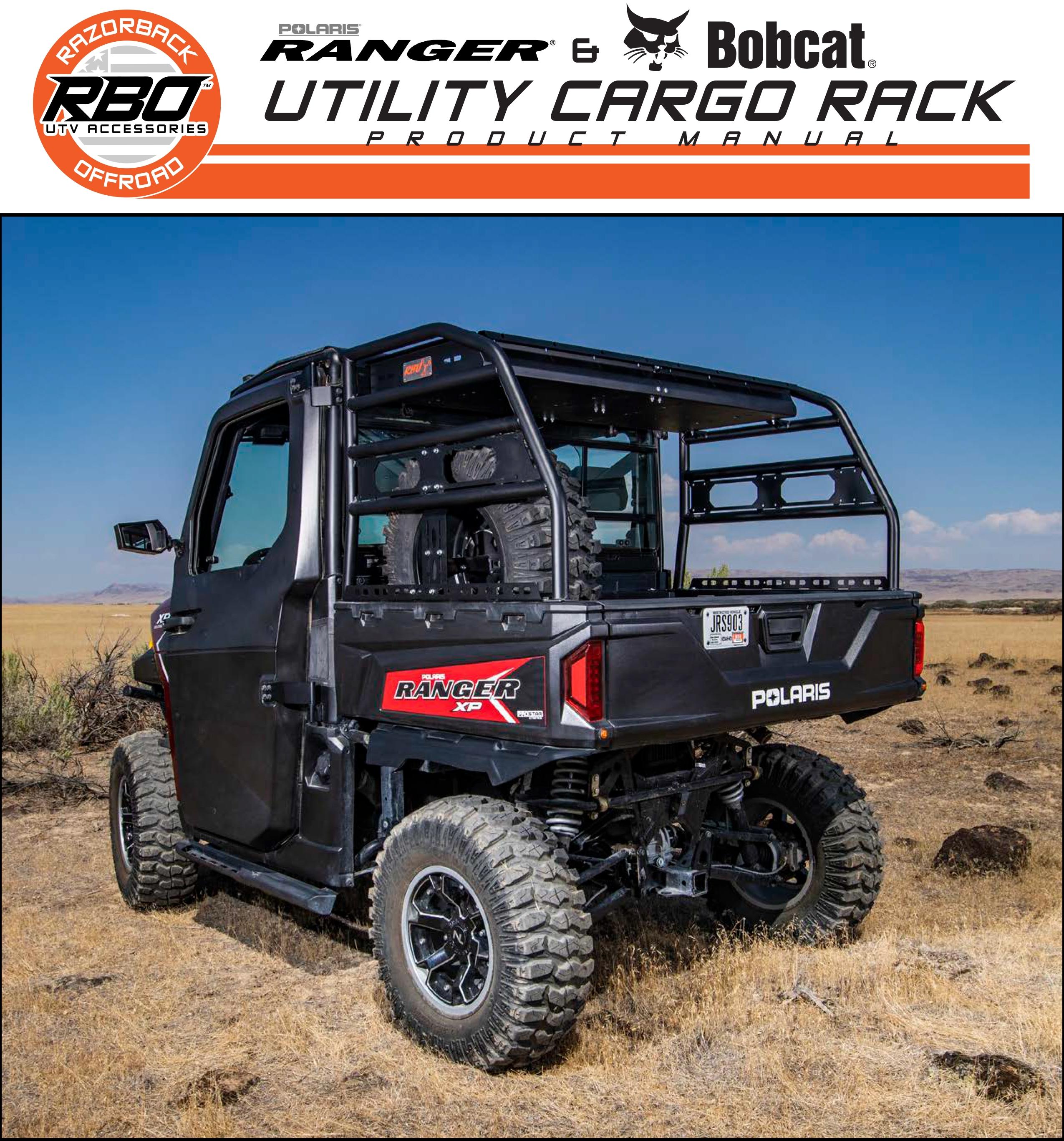 RBO Polaris Ranger and Bobcat Utility Cargo Rack Product Manual