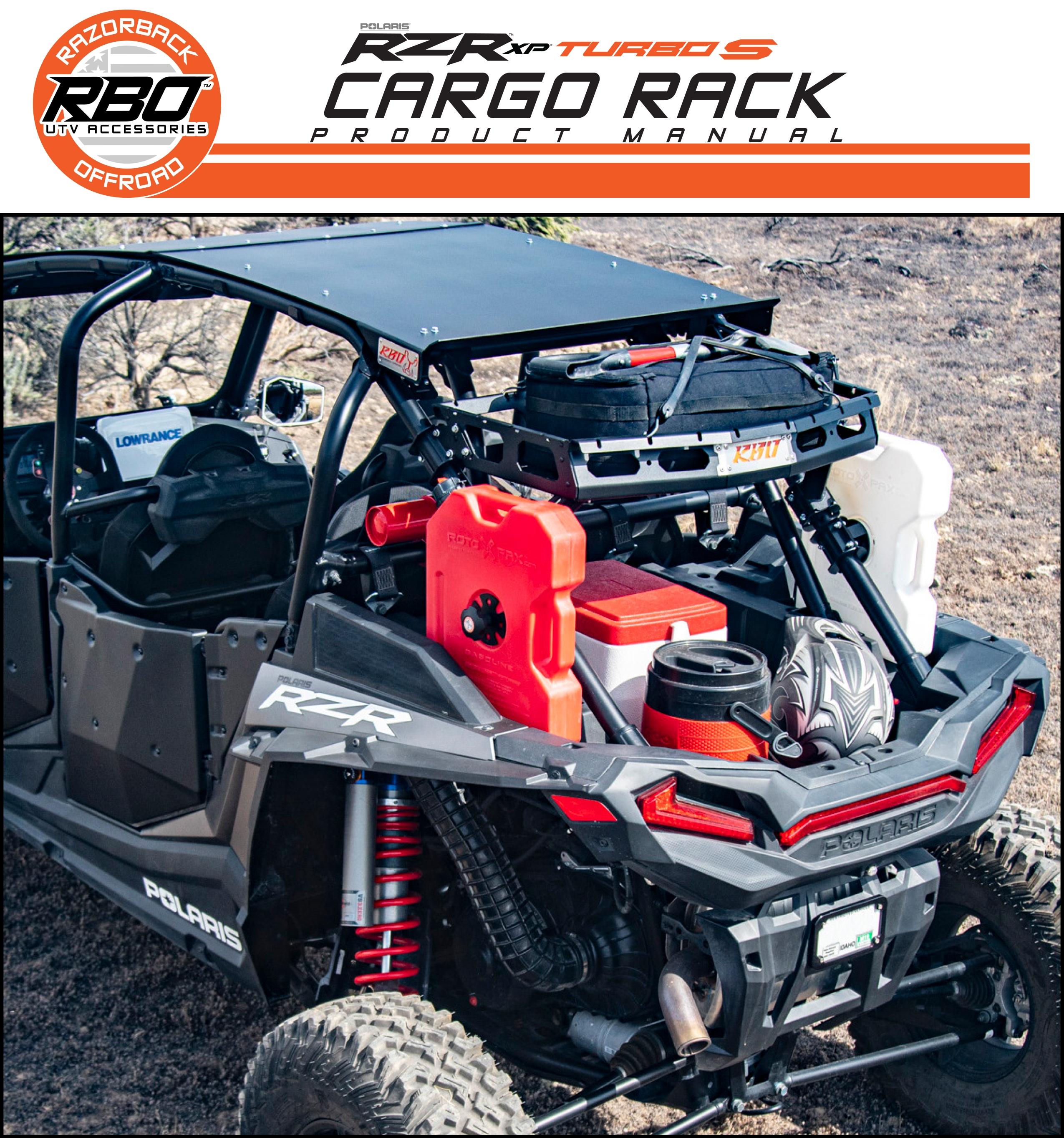 RBO Polaris Turbo S Cargo Rack Product Manual