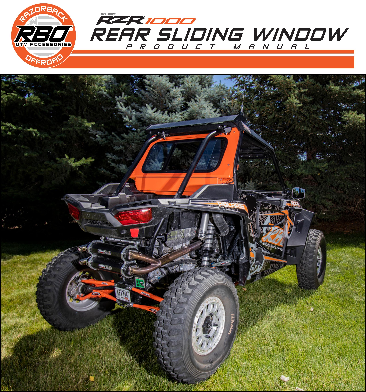 BO Polaris RZR 1000 Rear Sliding Window Product Manual