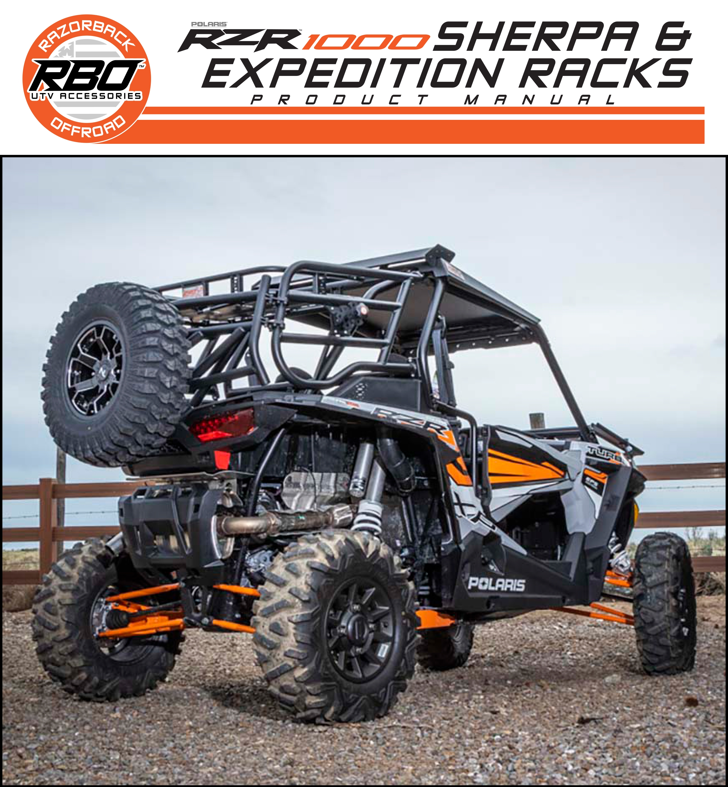 RBO Polaris RZR 1000 Sherpa and Expedition Racks Product Manuals