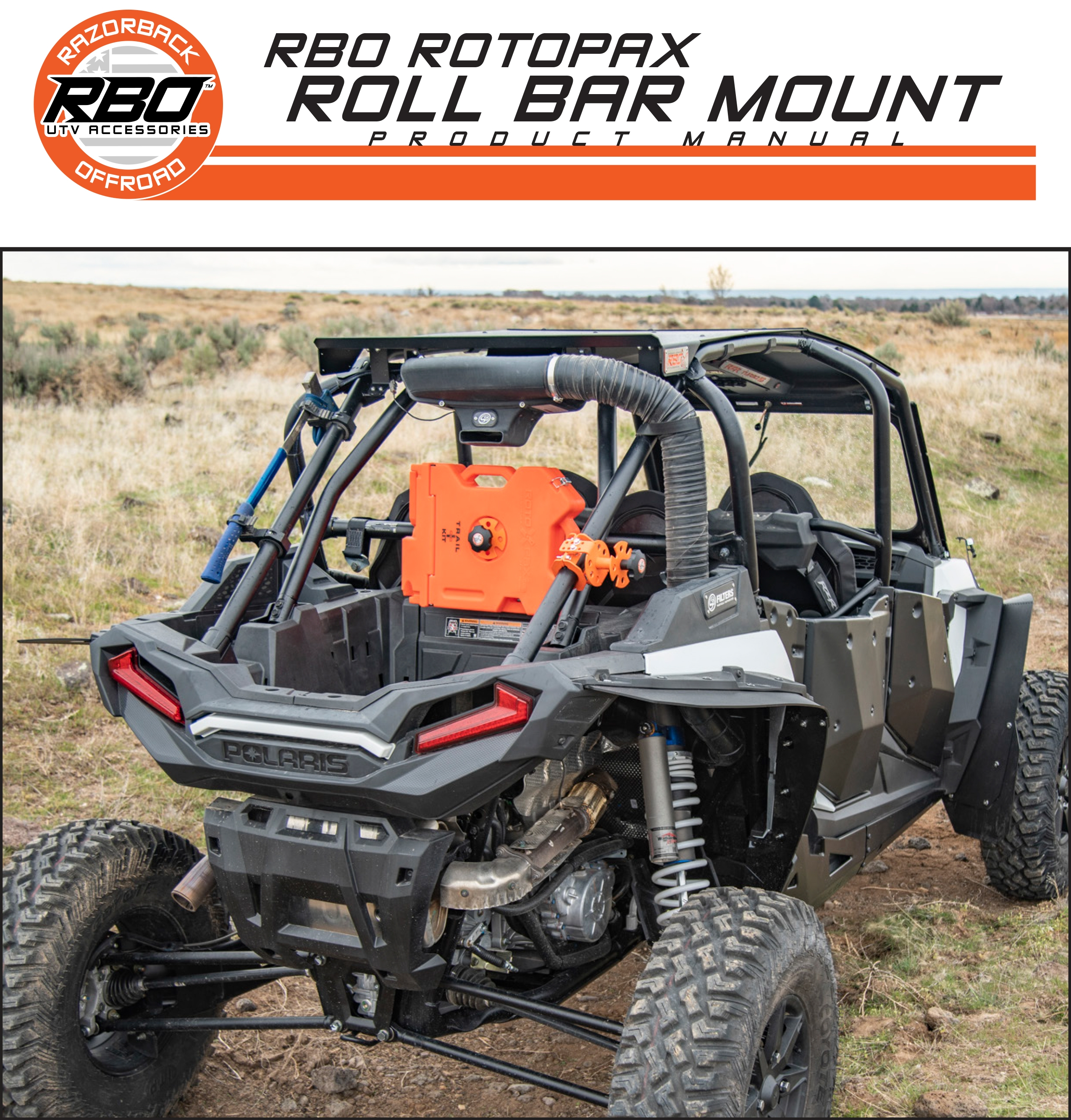 RBO Rotopax Roll Bar Mount Product Manual