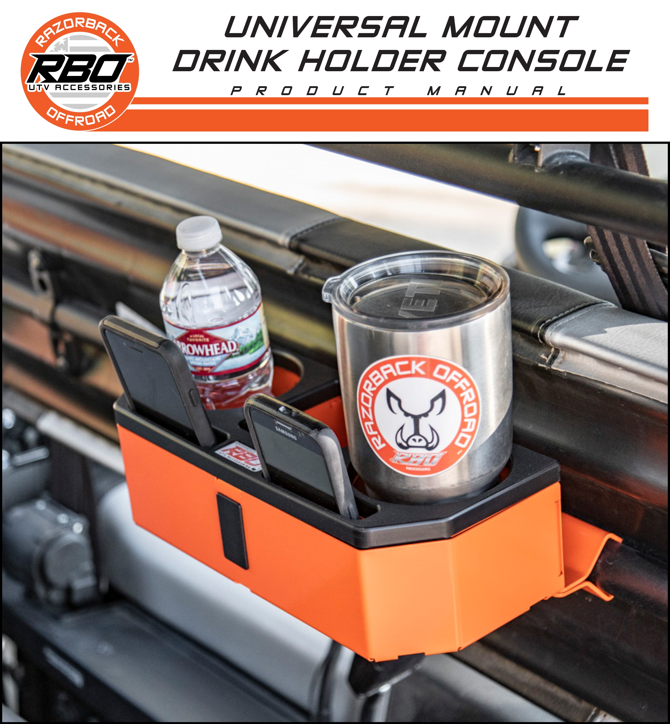 RBO Universal Mount Drink Holder Console Product Manual