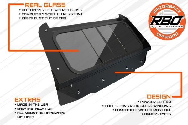 4024 Polaris RZR-900 Rear Sliding Window Diagram